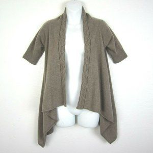 KENAR Open Front Cardigan 100% Cashmere XS 2 Ply